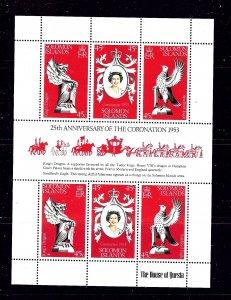 Solomon Is 368 MNH 1978 QEII Silver Jubilee sheet    #2