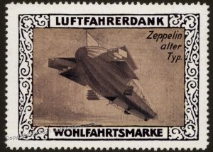 Germany WWI Air Force Memorial Luftfahrerdank Flight MNH Zeppelin Cinder G102788