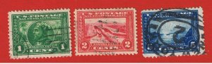 #397-399  F-VF used Panama-Pacific  Exposition  Free S/H