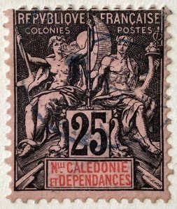 AlexStamps NEW CALEDONIA #50 FVF Used