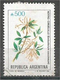 ARGENTINA, 1990, used 500a, Flowers, Scott 1688