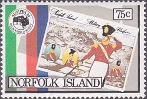 Norfolk Island # 346 mnh ~ 75¢ AUSIPEX '84 – Presentation Pack