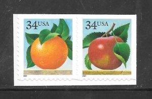 #3491-92 MNH Apple & Orange, Attached Pair