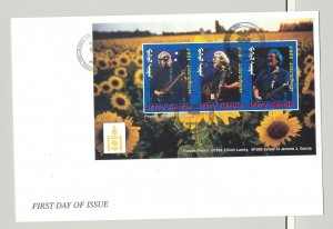 Mongolia #2385-2389 Jerry Garcia, Music 5v M/S of 3 on 5 FDC