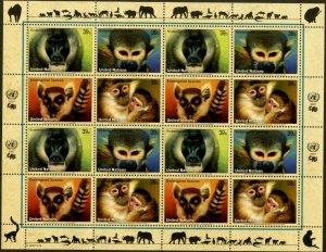 UNITED NATIONS Sc# NY 925-8 GE465-8 VI388-91 2007 Endangered Species Sheets MNH