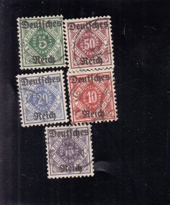Württemberg: Sc #059-065, Complete, Used (S18324)