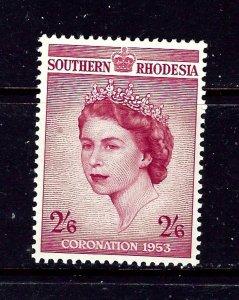Southern Rhodesia 80 MNH 1953 QEII Coronation