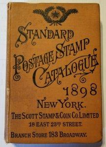 1898 Scott Standard Postage Stamp Catalogue Rare 58th Edition Vintage Antique