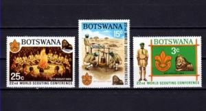 Botswana, Scott cat. 51-53. World Scout Conference issue. Lions in design. LH *