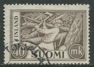 Finland - Scott 305 - Woodchopper -1952- Used - Single 40m Stamp