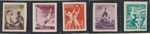Poland Stamps Scott #699 To 704, Mint Never Hinged, Imperforate Set - Free U....