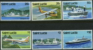 St. Lucia Scott #507a - #515a Complete Set of 6 Mint Never Hinged  Watermark 380