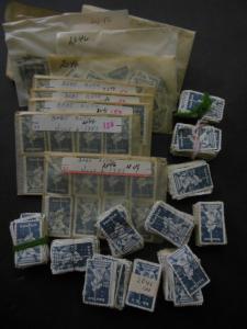 USA : 1983. Scott #2046 Baseball, Babe Ruth. Huge accumulation of 2700+ stamps.