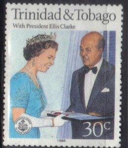 TRINIDAD & TOBAGO SC# 445 **USED** 30c  1986    SEE SCAN
