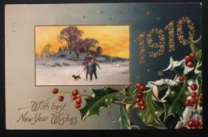 1909 Middletown NY USA Picture Postcard Cover Christmas seal #wx5