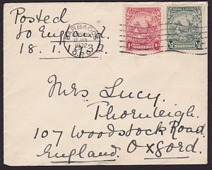 BARBADOS 1932 1½d rate cover to UK..........................................6190
