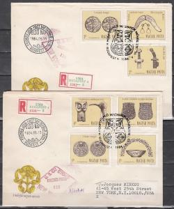 Hungary, Scott cat. 2843-2849. Archaeological issue. 2 First day covers.