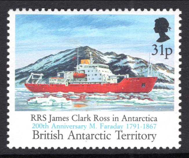 British Antarctic Territory 186 Ship MNH VF
