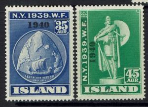 Iceland SC# 233 - 234 - Mint Light Hinged - 030517