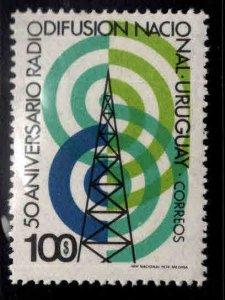 Uruguay Scott 889 Broadcasting stamp