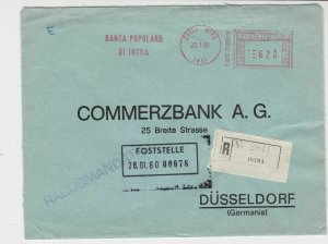 Italy 1980 Popbank to Commerzbank Registered Machine Cancel Stamps CoverRef24628
