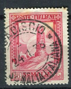 ITALY; SOMALIA 1932 early Pictorial issue fine used 20c. value