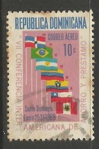 Dominican Rep. C163 VFU FLAGS 195G-2