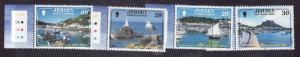 Jersey-Sc#1112-15-unused NH set-Tourist Attractions-2004-