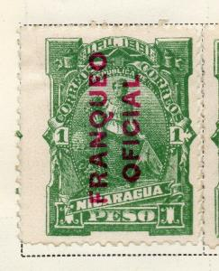 Nicaragua 1891 Early Issue Fine Mint Hinged 1P. Official Optd 323702