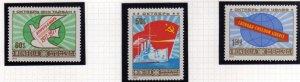 MONGOLIA 1977 60th ANNIVERSARY OF RUSSIAN REVOLUTION RIVOLUZIONE RUSSA COMPLE...