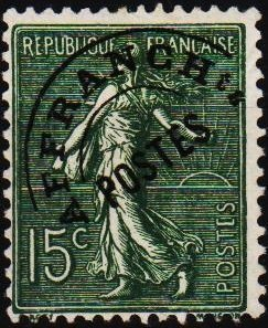 France. Date? 15c(Pre Cancel) Fine Used