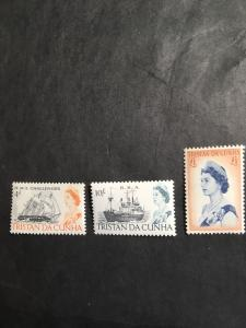 Tristan da Cunha #113-115 Cpl. Mint Set of 3. VF-NH Cat. $37.25 1967 Issue2Ships