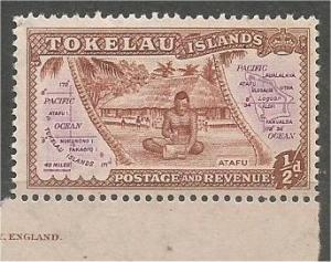 TOKELAU, 1948, MNH 1/2p, Atafu Scott 1