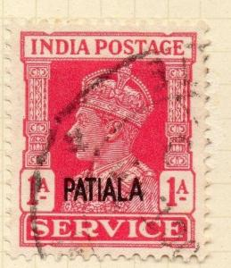 Indian States Patiala 1940 Early Issue Fine Used 1a. Optd 075663