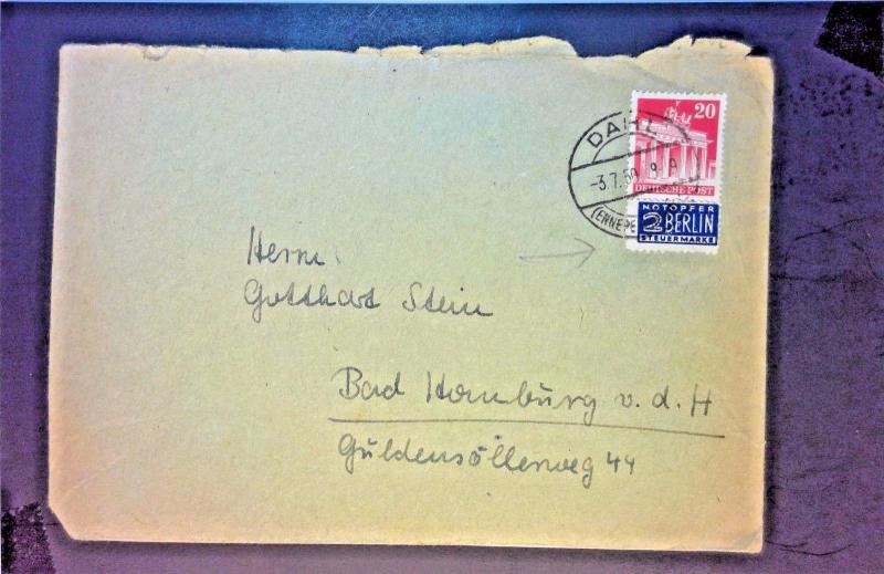 Germany 1950 Cover w/ 2BERLIN Label - Z1286