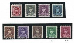 1931-32 Belgium/Belgium/Belgique - N° 317/324 9 Values MH