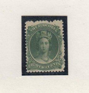 NOVA SCOTIA (MK5352)  # 11 VF-MNH  8 1/2cts  QUEEN VICTORIA /GREEN CAT VAL $40