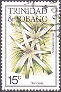 Trinidad & Tobago # 394 used ~ 15¢ Flowers - Star Grass