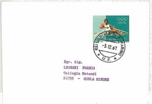 CANOEING \ OLYMPIC GAMES  - Postal History : SAN MARINO - stamp on COVER 1967