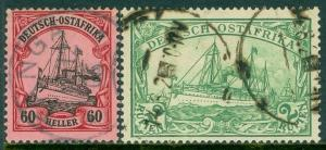EDW1949SELL : GERMAN EAST AFRICA 1901 Sc #20, 29 Both Fresh & VF Used Cat $175