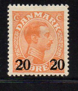 Denmark Sc 176 1926 20 o ovpt on 30 o Christian X stamp mint