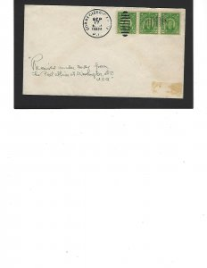 Rare Phillipines Cover Sc #241a (2 ct Strip of 3) Cancelled 9/17/1934