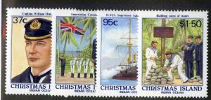 CHRISTMAS ISLAND 214-217 MH SCV $5.05 BIN $2.00 MILITARY
