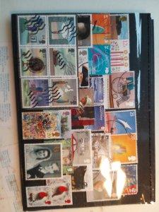 Lot 3 United Kingdom full page, 29 stamps used/unused