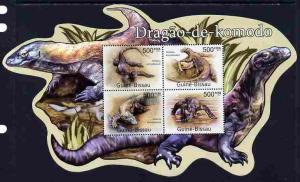 Guinea-Bissau MNH S/S Komodo Dragons Special Shape 2011