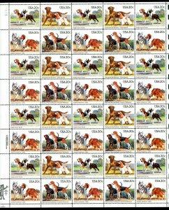 2098 - 2101 Dogs 20¢ Sheet of 40   MNH