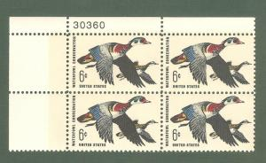 1362 Waterfowl Conservation Plate Block Mint/nh FREE SHIPPING