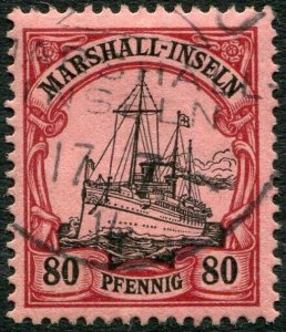 MARSHALL ISLANDS-1901 80pf Black & Carmine/Rose Sg G19 FINE USED V36441