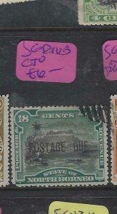 NORTH BORNEO  (P2601B)  18C POSTAGE DUE  , MOUNTAIN SG D10B  CTO
