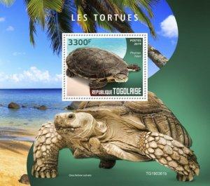 TOGO - 2019 - Turtles - Perf Souv Sheet - MNH